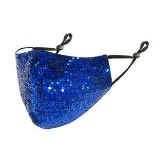 Blue Sequin Mask